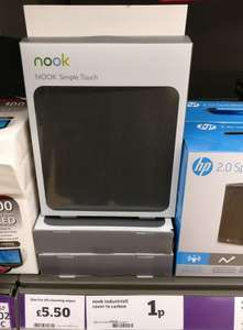 NOOK Simple Touch e-book reader cover 1p instore @ Sainsburys (Oxford)
