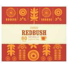 TESCO REDBUSH NATURALLY CAFFEINE FREE AND LOW IN TANNIN, 80 TEA BAGS £1.99 INSTORE / ONLINE @ TESCO