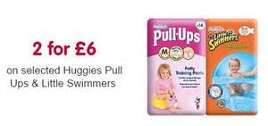 2 packs of Huggies Little Swimmers or Pull Up pants usually £5.49 each now 2 for £6 @ Boots