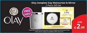 Olay Complete Day Moisturiser & Mirror with Free Candle £2.99 at Savers