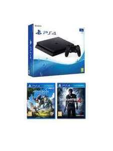 Playstation 4 1T b Black Console With Horizon Zero Dawn And Uncharted 4 : A Thief's End £279.99 / £283.98 delivered - Very