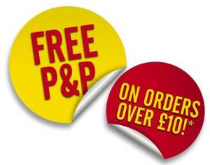 Free P&P on Orders £10 or more until 12th March @ HalfCost