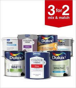 3 for 2 on all paint at Wickes