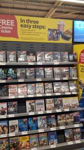 Free Cineworld ticket with £5 DVDs @ Tesco (via DVD Offers)