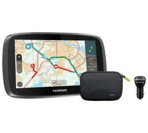 TomTom 5100 5 Inch Traffic Sat Nav World Maps,Lifetime Traffic update, Charger, Case £169.99 @ Argos