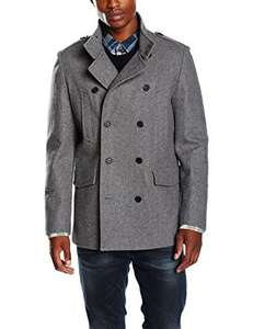 New Look Men's 62% Wool Military Coat - All Sizes - Black/Grey £11.94 (Prime) £16.93 (Non-Prime) @ Amazon.co.uk