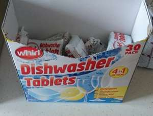 Whirl Dishwasher Tablets x30 for £1 @ Bargain Buys