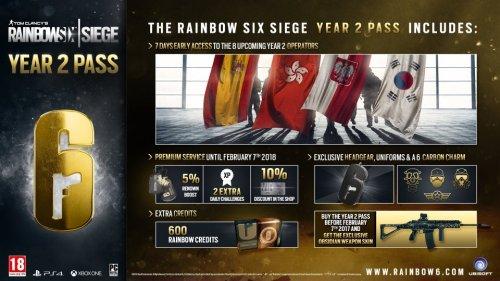 Rainbow 6 Siege Year 2 & Legacy Operator Bundle £27.98 (using club points) @ Ubisoft