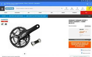 SHIMANO SHIMANO DEORE 9 SPEED CHAINSET, 175MM - 44/32/22 £44.99 @ Decathlon