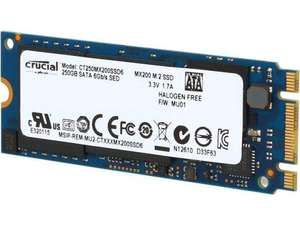 Used: Crucial CT250MX200SSD6 M.2 Type 2260DS MX200 250 GB Internal Solid State Drive £55.87 @ amazon warehouse