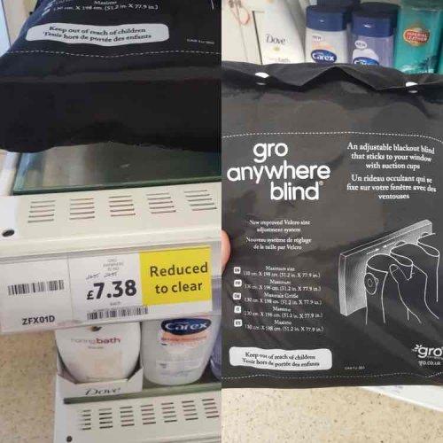 Gro Anywhere Blind £7.38 instore @ Tesco