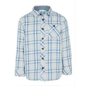 John Lewis Boys' Multi Colour Check Shirt, Blue/Cream £7.00 - £8.00 @ johnlewis