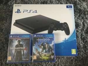 PS4 slim 1tb with horizon zero dawn and uncharted 4 a theifs end £279.95 @ John lewis