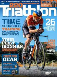 220 TRIATHLON MAGAZINE & FREE ZONE3 TRANSITION PACK WORTH £69 - at Buy Subscriptions - £45.40
