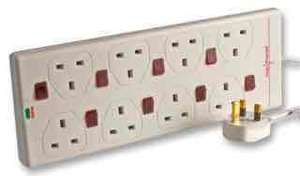 PRO ELEC Surge Protected Individually Switched 8 Way Extension Lead, 2m £8.64 Free delivery @ CPC Farnell