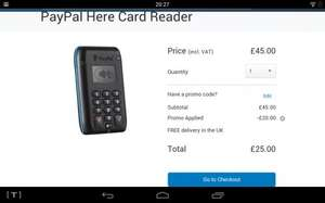 Paypal here card reader just £25 @ paypal
