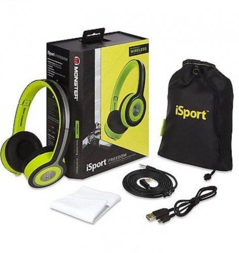 RRP £149.99 Monster iSport Freedom Wireless Bluetooth On Ear Headphones Green Sweatproof £65 @  Tesco / Ebay