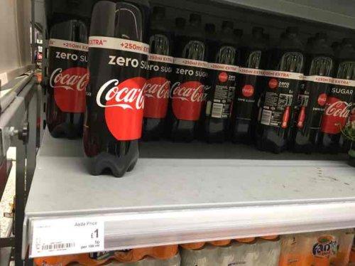 Coca cola Zero ..2 litre £1.00 @ Asda