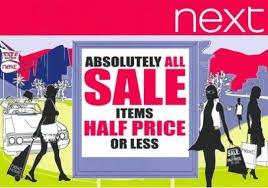 Next sale starts Saturday 18th March, £0.99