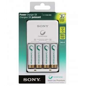 Sony AA Battery Charger with 4 AA 2100 mAh Multi-Use Premium Batteries £9.99 (Free P&P) @ MyMemory / eBay
