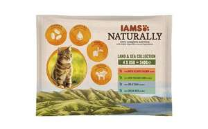 Iams Naturals Land and Sea Collection Adult Cat Food, 4 x 85 g - Pack of 11 Add on item - £1.99 @ Amazon