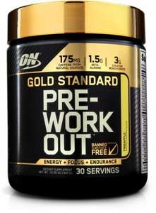 ON Optimum Nutrition: Gold Standard Pre-Workout 2 X 30 Servings £25.35  BodyBuilding.com