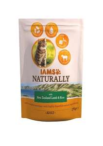8 BAGS of Iams Naturals New Zealand Lamb and Rice Adult Cat Food, 270 g - Pack of 8  £1.99 Amazon add on item