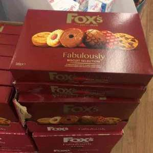300g of Fox biscuits selection £1 in Poundland box