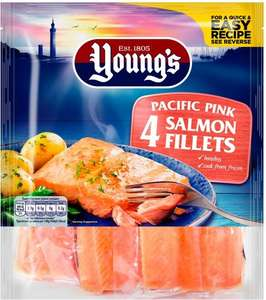 Young's 4 Pacific Pink Salmon Fillets (360g) was 4.00 now 2 packs for £5.00 @ Asda