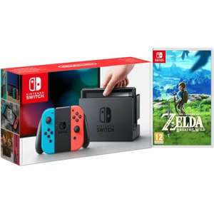 Nintendo Switch Neon Red/Blue + Breath of the Wild £305.98 @ Zavvi (with code)