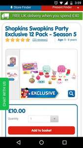Shopkins Swapkins Party Exclusive 12 Pack - Season £10 @ The Entertainer