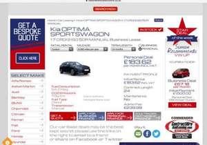 Kia Optima Sportswagon 1.7 CRDI 2 ISG Lease deal £183 per month £4646.87 @ National Vehicle Solutions