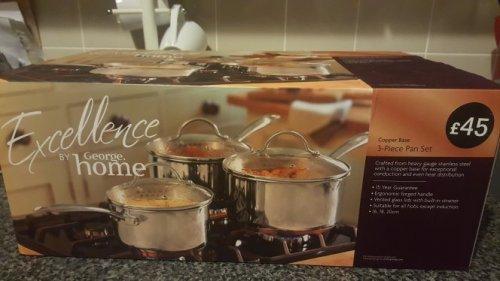 Asda set of 3 saucepans £22.50 instore - Havant