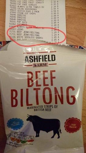 Aldi Beef Jerky/Biltong £1.29