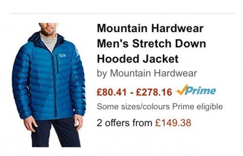 Mountain Hardwear cheap @ amazon