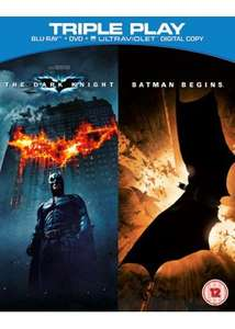 Batman Begins / The Dark Knight - Triple Play (Blu-ray+DVD+UV Copy) £3 in store @ Fopp