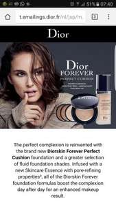 Free Dior 'Forever Perfect Cushion' Foundation