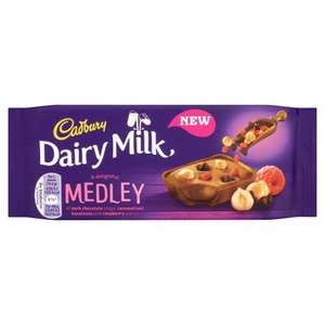 Cadbury raspberry medley 39p each or  3 for £1 at B&M