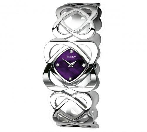 Seksy by Sekonda Ladies purple hidden heart watch was £69.99 now £28.49 at Argos