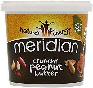 Meridian Crunchy Peanut Butter 100 Percent Nuts 1 kg (Pack of 2) £7.14 (add on item) or £6.78 (s&s) Amazon