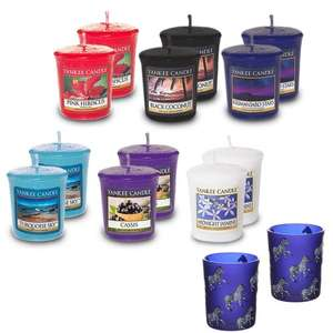 12 yankee candle votives & 2 votive holders for £12.99 delivered @ Weeklydeals4less