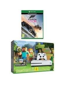 White xbox one S 500gb with mine craft full game plus extra dlc and forza 3. £219.99 Very (£201.97 with new customer code)