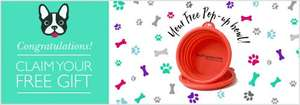 Free Pop up Dog Bowl @ Pets Pyjamas