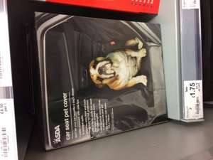 Cars seat pet cover £1.75 at Asda - Aberdeen