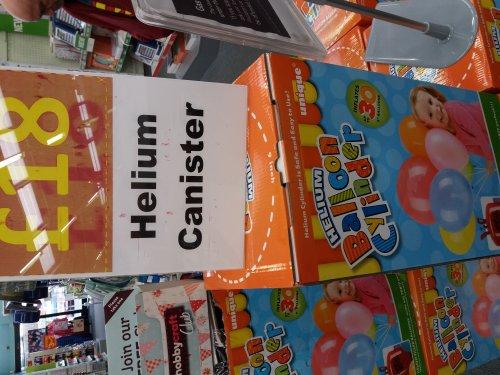 Helium £18 at Hobby craft - £1 c&c