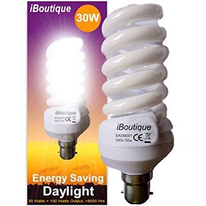 Natural daylight lamp for SAD 150w/30w prime £6.37 / £10.36 non prime @ Amazon