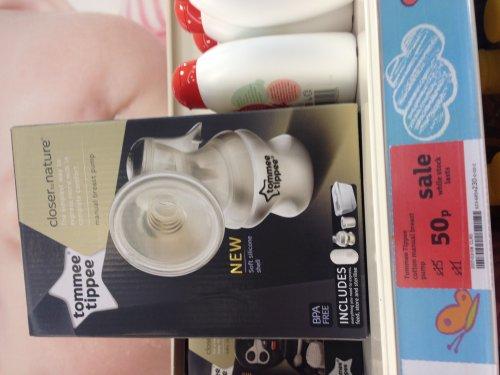 Tommee tippee manual breast pump 50p instore @ Sainsbury's Livingston