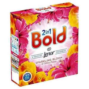 Bold 2 in 1 Washing Powder Sparkling Bloom and Poppy 1.4 kg, Pack of 6 £11.37 Prime / £16.12 Non Prime @ Amazon