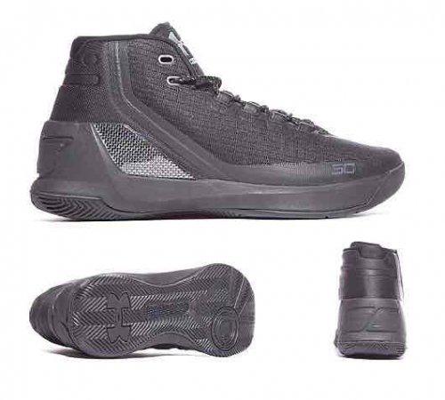 Underarmour Curry 3 'Triple Black' basketball trainers £59.99 Footasylum