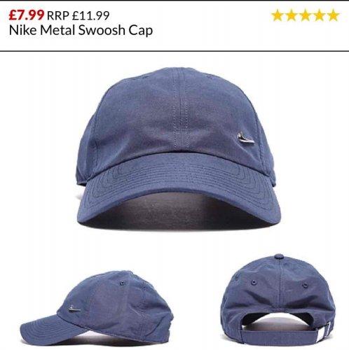 Nike metal swoosh cap £7.99 (£7.19 student) + £3.95 p&p at footasylum